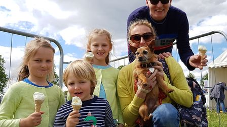 A family enjoys a day out at the South Suffolk Show Picture: RACHEL EDGE