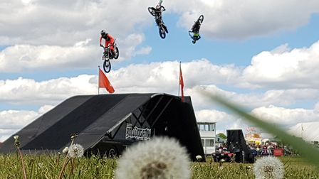 The Bolddog Lings FMX Display Team wowed crowds Picture: RACHEL EDGE