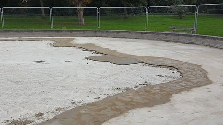 There were issues with the new concrete within weeks after the first work was done last summer Pictu