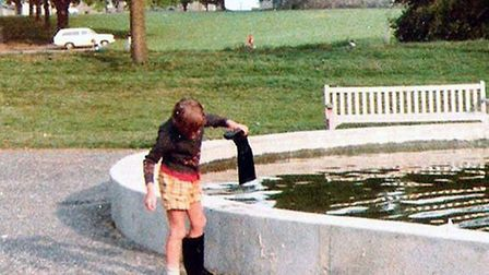 Sudbury boating lake in the 1970s shortly after it was built in memory of the Green family