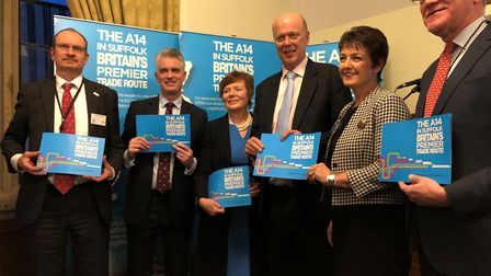 Suffolk business leaders and politicians backing the No More A14 Delays campaign, spearheaded by Suf