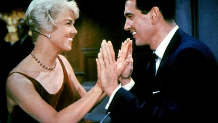 Doris Day and Rock Hudson in their smash-hit romantic comedy Pillow Talk Photo: Universal