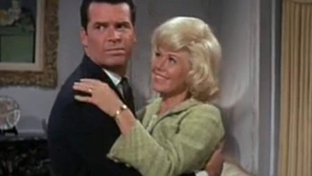 James Garner and Doris Day in the hit comedy Move Over Darling which also gave her a No 1 hit single