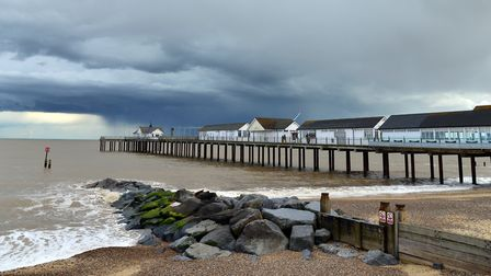 Southwold beach did not apply for a Blue Flag due to a drop in water quality Picture: SIMON PARKER