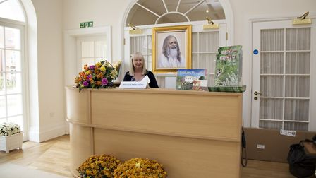 The entrance and reception area at Maharishi Peace Palace, Rendlesham Picture: RUTH LEACH