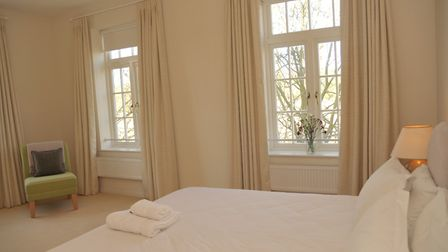 One of the bedrooms at the Maharishi Peace Palace in Rendlesham Picture: SARAH LUCY BROWN