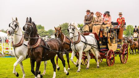 Coach driving is a traditional sight at the Suffolk Show Picture: TOM SOPER