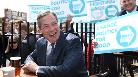 Nigel Farage's visit to Clacton was the main interest in the European election in the East of Englan