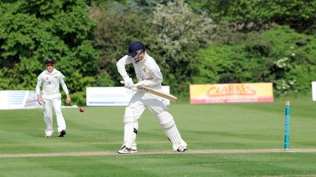 Alfie Marston, who top-scored with 32 in Bury St Edmunds' five-wicket win at Mildenhall. Picture: PH
