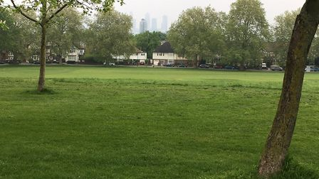 The view looking towards Central London from near the start of the Hilly Fields parkrun. Picture: CA