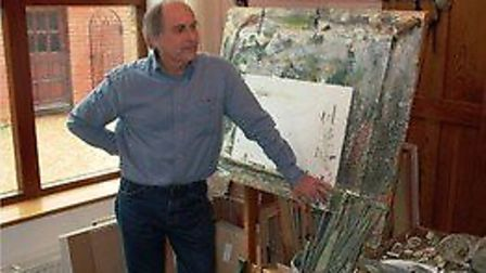 Suffolk artist Peter Burman, who is to hold an exhibition in aid of Macmillan Cancer Support Picture