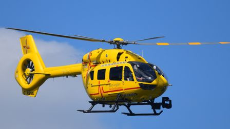 The collection raised �479 for the East Anglian Air Ambulance. Picture: EAAA