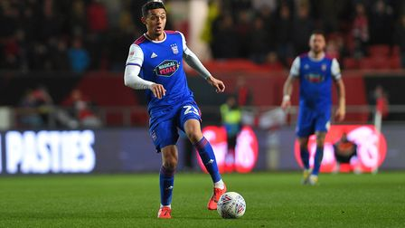 Andre Dozzell on the ball at Bristol City. Photo: Pagepix