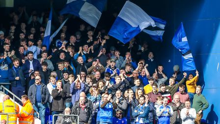 Ipswich Town fans have got behind their team during the most torturous of relegation campaigns. Phot