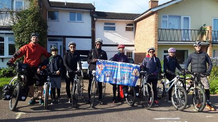 Hannah and Ross Basham have set out on a cycle trip to China Picture: HANNAH AND ROSS BASHAM
