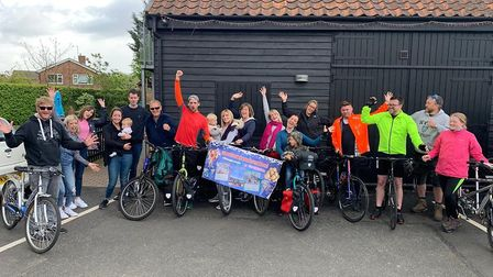 Hannah and Ross started their trip in Kelsale and now have thousands of miles ahead Picture: HANNAH