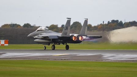 Military aircraft pictured at RAF Lakenheath. Picture: GREGG BROWN