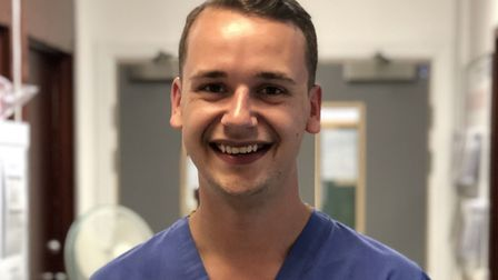 Tom Acker is a paediatric nurse for West Suffolk NHS Foundation Trust Picture: WSFT