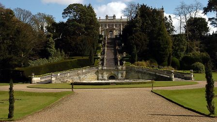 The Grade I listed gardens at Shrubland Hall, pictured as it went up for sale in 2006 Picture: PHIL