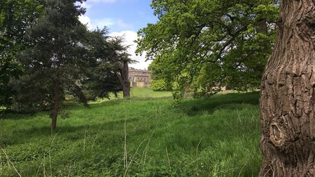 The main hall as seen from one of the public footpaths Picture: ANDREW HIRST