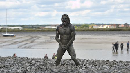 Joel Hicks taking part in the annual Maldon Mud Race Picture: Joe Giddens/PA Wire