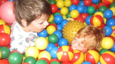 Children playing in the ball pit at Eye Opportunity Group Picture: EYE OPPORTUNITY GROUP