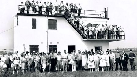 A historic photo of the control tower at Lavenham Airfield. Picture: LAVENHAM LIFE