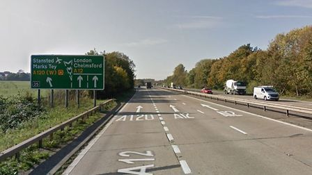 The junction of the A12 and the A120 could be the location of a 24,000-home garden town Picture: GOO
