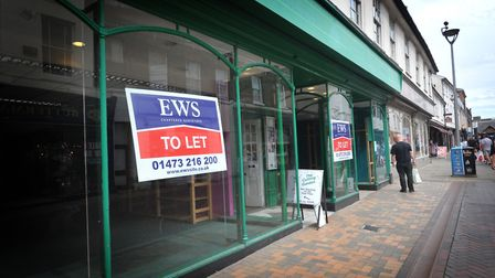 Empty shops in Ipswich town centre. Picture: Sarah Lucy Brown