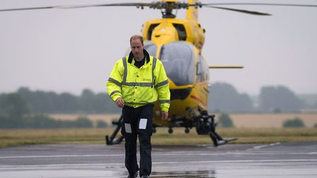 The Duke of Cambridge has spoken about his time as an East Anglian Air Ambulance pilot Picture: Stef
