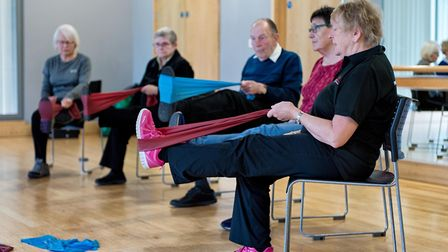 Participants hard at work in an Otago class at Abbeycroft Leisure'�s Hadleigh Leisure Centre. Pictur