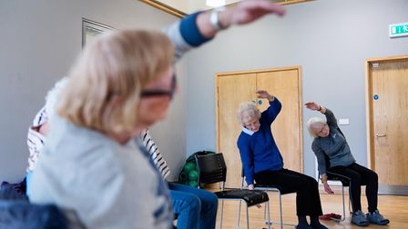 Participants hard at work in an Otago class at Abbeycroft Leisure�'s Hadleigh Leisure Centre. Pictur