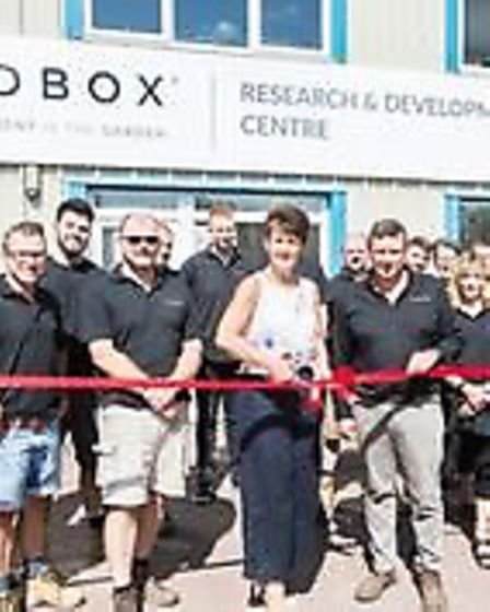 MP Jo Churchill and the team from Zedbox opening their new R&D Centre in Rougham Picture: CHERRY BE