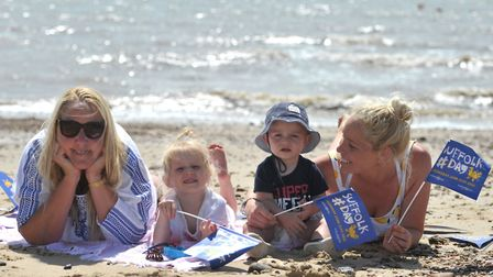 Miriam Beard, Paloma, Heston and Louise Crouch are looking forward to Suffolk Day Picture: SARAH LU