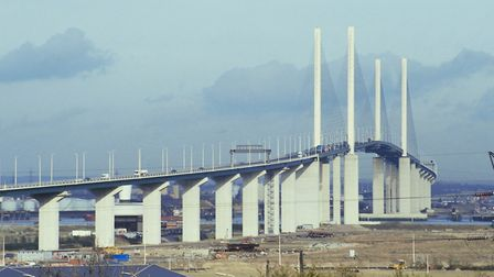 The Queen Elizabeth II Bridge connecting Essex and Kent has been closed due to a police incident Pic