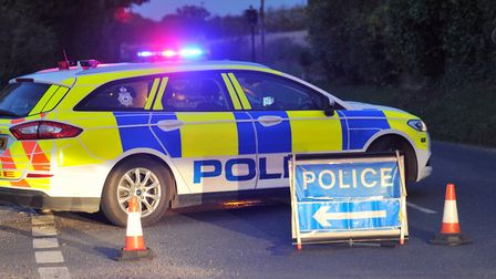 Police were called to the B1077 near Debenham to reports of a serious crash Picture: SARAH LUCY BROW