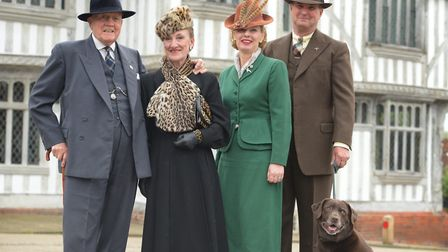 Henry and Cindy Moir and Julie and John Cyples with their dog Doris Picture: SARAH LUCY BROWN