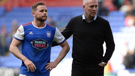 Ipswich Town manager Paul Lambert (right) must decide whether to deploy Alan Judge as a winger or ce