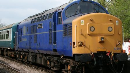 A visiting Class 37 in freight livery on the Mid Norfolk Railway. Picture: PAUL GEATER