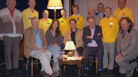 Staff and supporters of Aldeburgh Cinema in the early 2000s assembled for the Aldeburgh Documentary