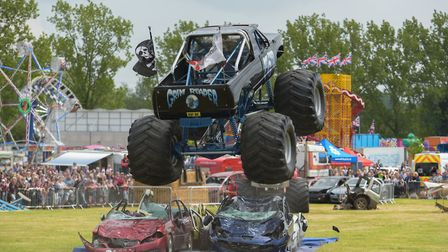 Monster trucks wowed the crowds Picture: SARAH LUCY BROWN