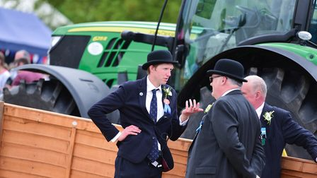 Stewards have a chat during the grand parade Picture: SARAH LUCY BROWN