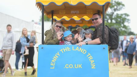 Visitors enjoyed the land train Picture: SARAH LUCY BROWN