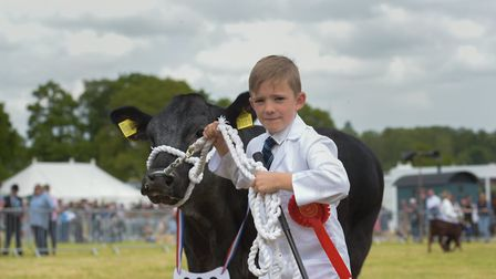 Ben Ketley in the young handlers class Picture: SARAH LUCY BROWN