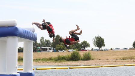 Aqua Park Suffolk at Alton Water is back for 2019 Picture: SPOTTYDOG COMMUNICATIONS