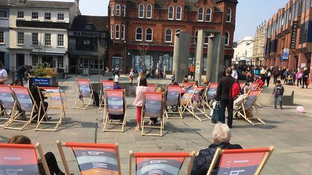 You can even chill out in a deck chair in the middle of Ipswich town centre Picture: PAUL GEATER
