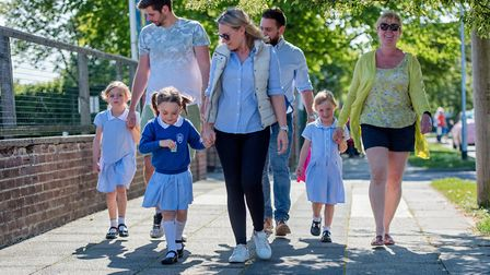 Families across Suffolk are set to lace up their walking shoes and ditch the school run Picture: SIM