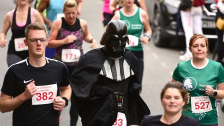 Some of the runners took part in fancy-dress at the Woodbridge 10K. Picture: SARAH LUCY BROWN