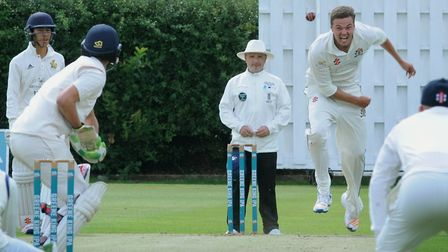 Fast bowler Hugo Douglas, who took four wickets in Mildenhall's victory at Copdock & OI. Picture: AN