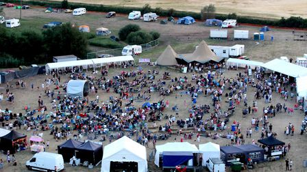 An overhead shot of the festival Picture: ALEX COE/BARDFEST